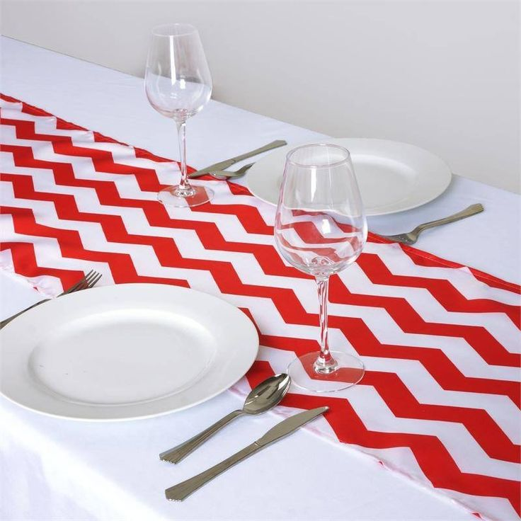 Jazzed Up Chevron Table Runners Fushia/White | The appealing chevron design mimics the vivaciousness of dancing waves that always continue flowing with the current. This trendy zig-zag design is truly pleasing to eyes and a mesmeric attraction to cheerful guests who will be snapping classy selfies with your chevron accented tablescape. Besides waves, the continuous motion of this zig-zag design represents all positive things like musical beats, shifting moods, heartbeat, in fact everything…