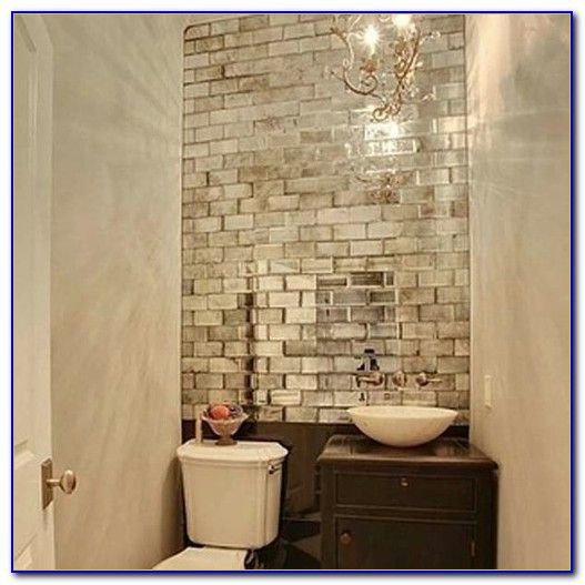 best 25 mirrored subway tiles ideas on pinterest small powder rooms half baths and powder room mirrors
