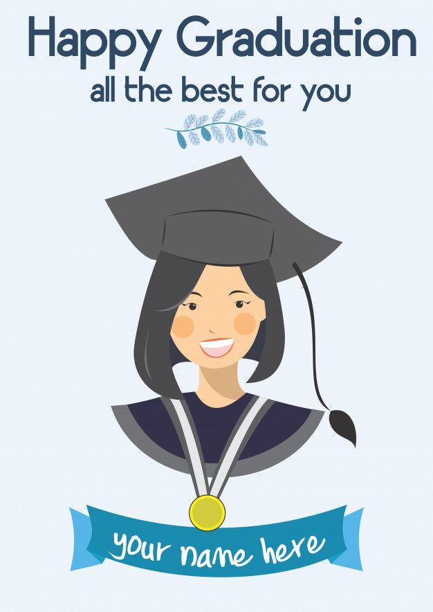 Happy Graduation Congratulation Template Premium Vector Freepik Vecto Graduation Card Templates Congratulations Graduate Congratulations Card Graduation