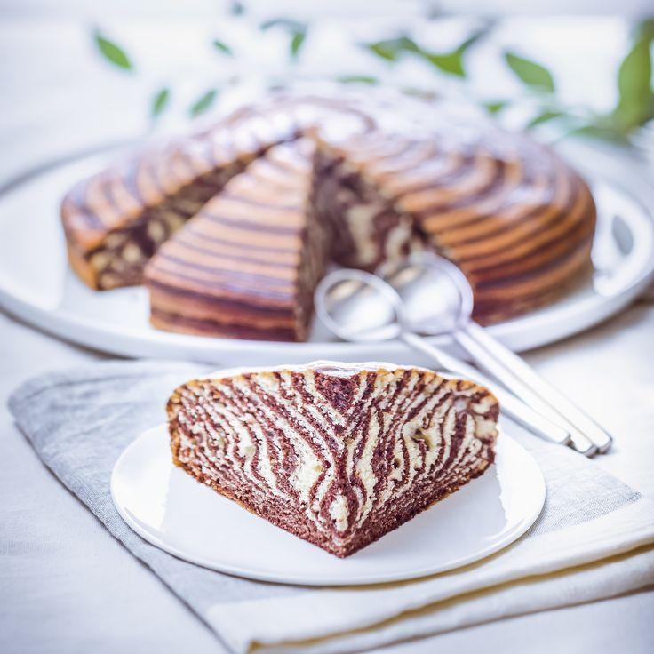 Gâteau zébré-Zebra cake-Cuisine Companion de Moulinex votre compagnon culinaire au quotidien