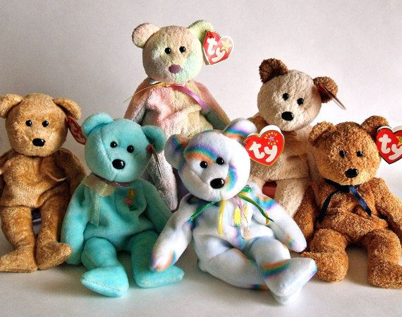 Ty Beanie Babies Ty Bears Stuffed Animals by ParadeOfMemories