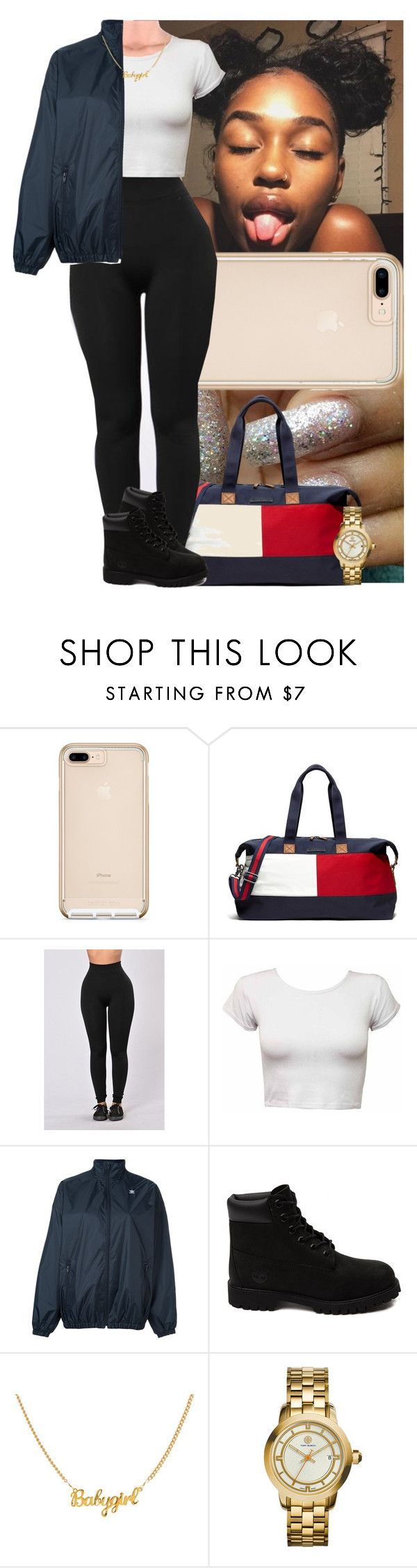 """""""Untitled #661"""" by msixo ❤ liked on Polyvore featuring Tommy Hilfiger, adidas Originals, Timberland and Tory Burch"""