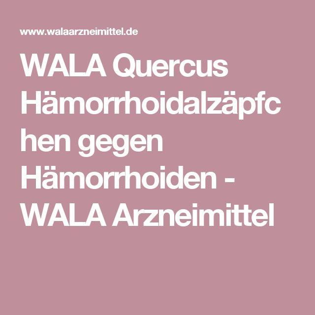 WALA Quercus Hämorrhoidalzäpfchen gegen Hämorrhoiden - WALA Arzneimittel