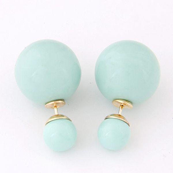 Tosca Double Ball Earring Double Ball Color Earrings Stud Earrings - Majesty Case