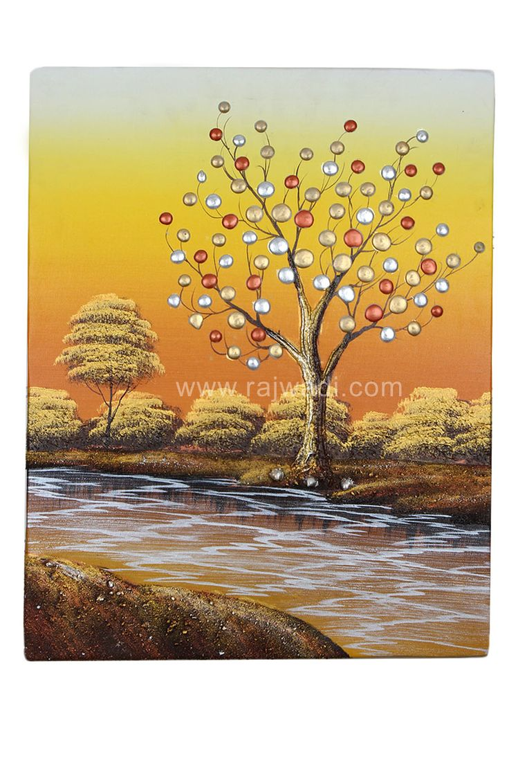 Multicoloured Canvas Unframed Wall Painting