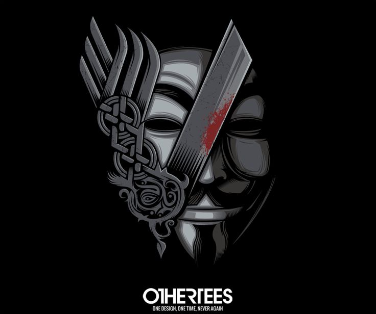 """V for Revenge"" by StudioM6 T-shirts, Tank Tops, V-necks, Sweatshirts and Hoodies are on sale until March 14th at www.OtherTees.com #vforvendetta #vikings #othertees"