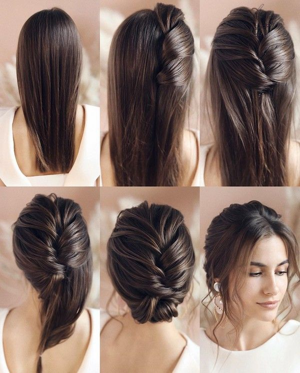 34 Diy Hairstyle Tutorials For Wedding And Prom Easy Homecoming Hairstyles Hair Styles Long Hair Styles