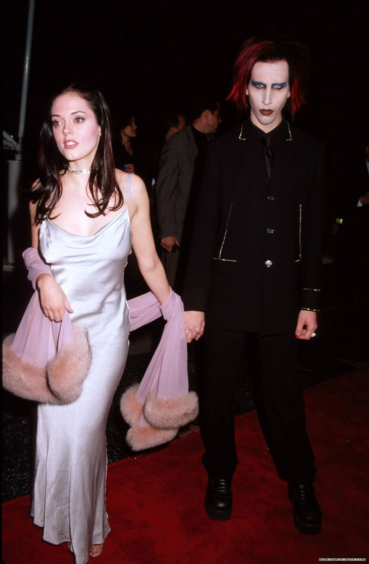 Brian Warner aka Marilyn Manson with used-to-be  girlfriend Rose McGowan. Description from pinterest.com. I searched for this on bing.com/images