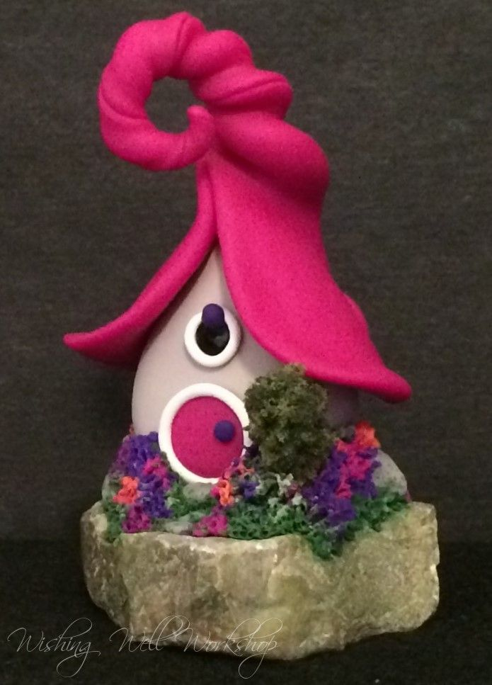 Fairy house, polymer clay, Wishing Well Workshop