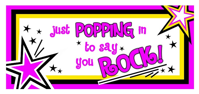 Just POPPING in to say you ROCK - use pop rocks or just popcorn!