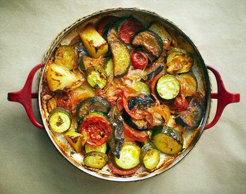 Рецепты из овощей. Овощи в духовке по-гречески