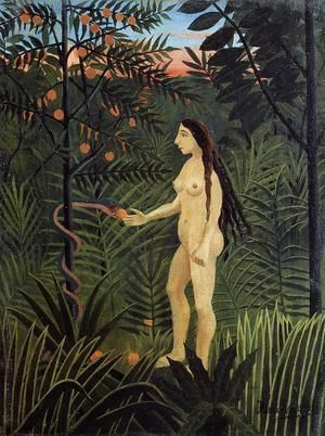 Eve And The Serpent  Henri Julien Rousseau
