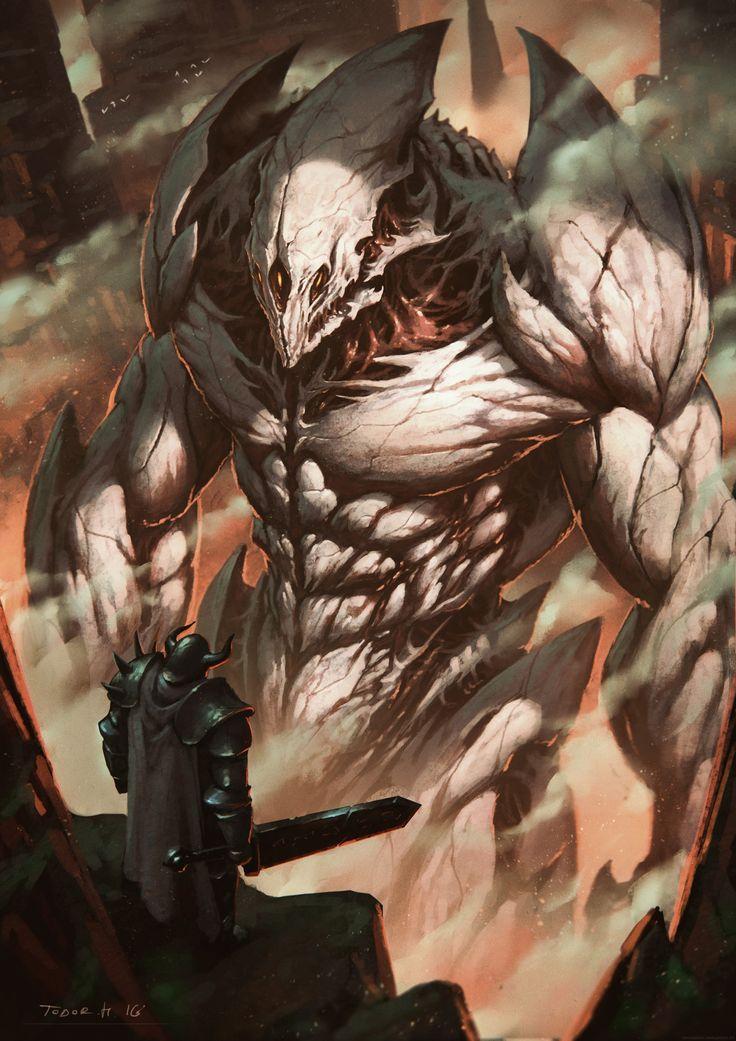 ArtStation - Colossus, Todor Hristov # character design realist monster giant smoke effect fx warrior