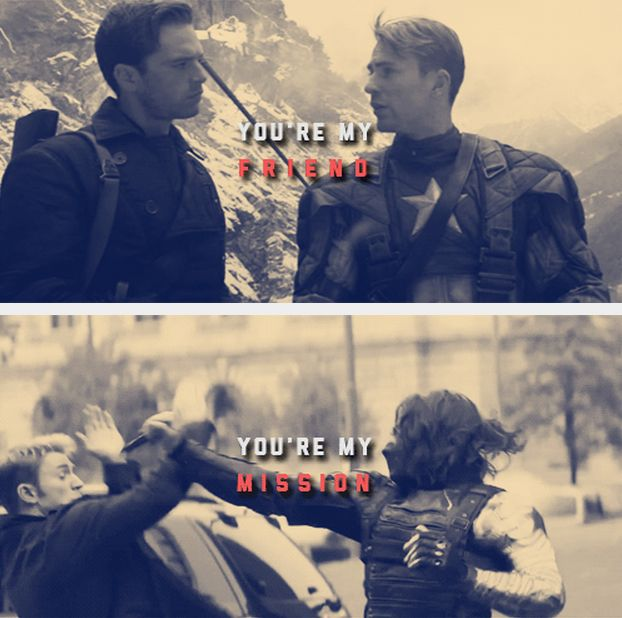 Steve and Bucky: Until the end of the line. *sobbing*