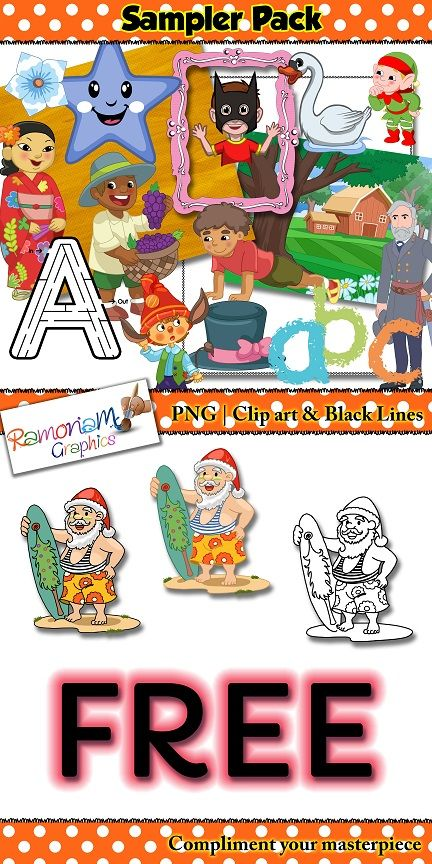 Free clip art!! 47 quality images, ready to download now. Includes PNG font, clip art, borders, frames and digital paper