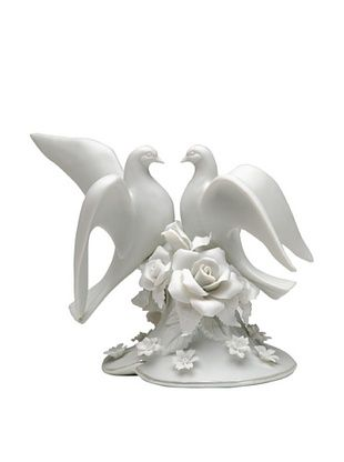 48% OFF Perfect Wedding Two Doves Hand-Made Porcelain Cake Topper