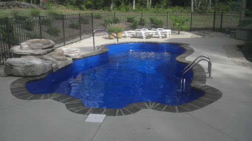 1000 images about swimming cool pool rock waterfall fountain on pinterest colors planters for Swimming pool supplies raleigh nc