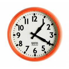 General electric school clock's in orange