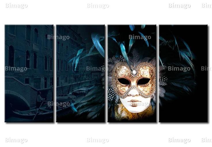 Tableau Venise : fascination des masques