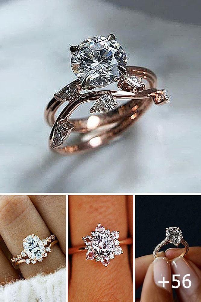 Luxe Platinum Noir Classique Diamant Bague De Fiançailles Déclaration Femmes Party Ring