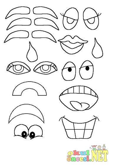 Göz Burun Ağız Boyama Sayfaları Googleda Ara çizim Boyama