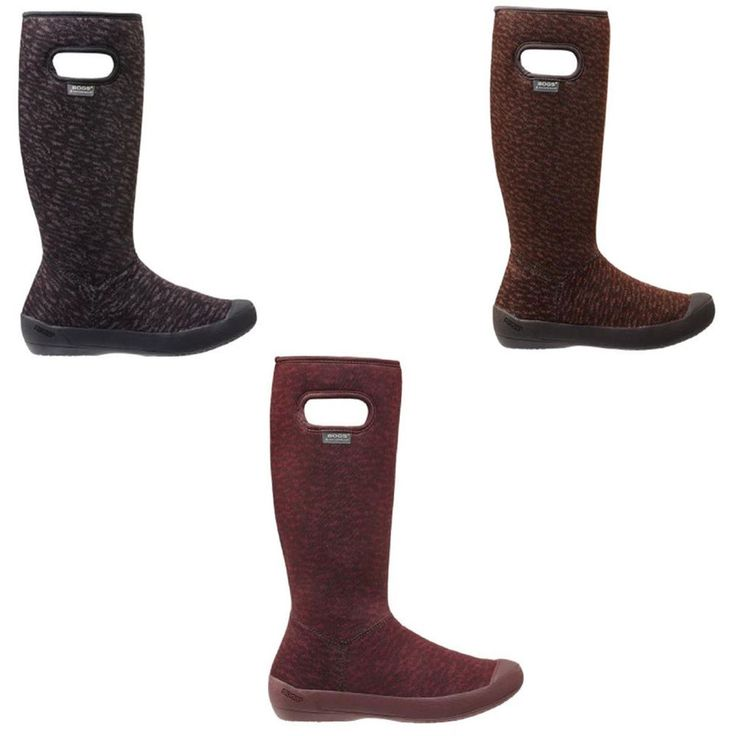 BOGS 71616 Women's Tall Height Summit Knit Waterproof Pull On Winter Boots #Bogs #Winter
