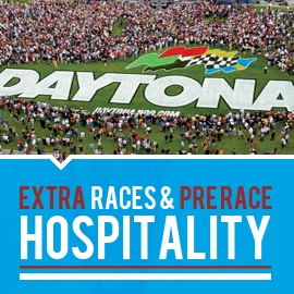 2013 Daytona 500 Packages, Hotels, Tickets in Daytona Beach  The Roadtrips Difference...   • Choose the Hilton Cocoa Beach Oceanfront to experience Florida's Space Coast   • Choose the Hyatt Grand Cypress to also experience Orlando's attractions   • Choose the Holiday Inn Daytona Beach to stay closest to the track   • Access to exclusive pre-race pit passes and hospitality   • Custom Packages from $795/person (based on double occupancy)   taylormadetravel142@gmail.com  call 828-475-6227