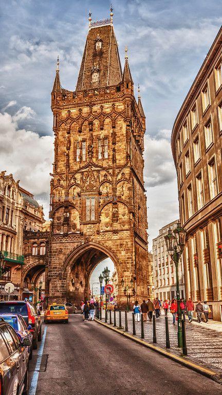 Prague Europe in the morning