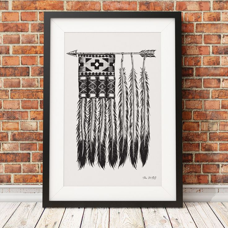 native america print canvas