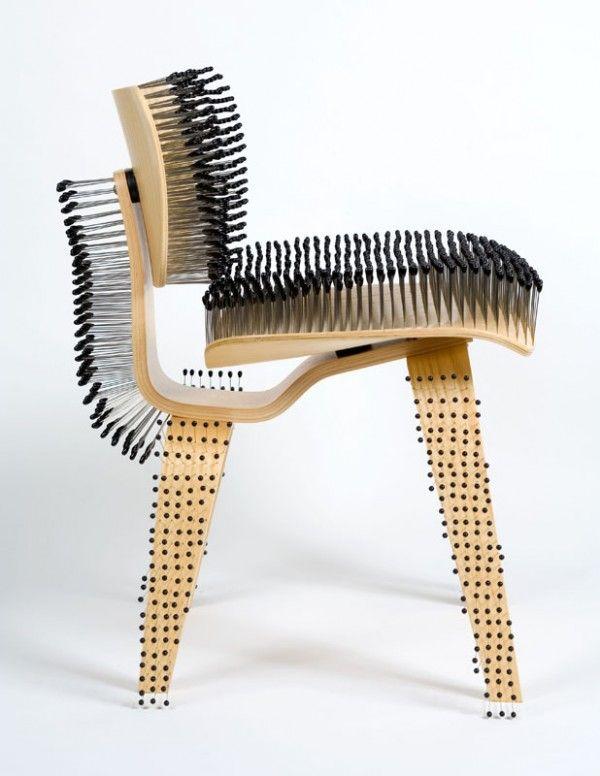 Pincushion Eames Chair by Paula Scher