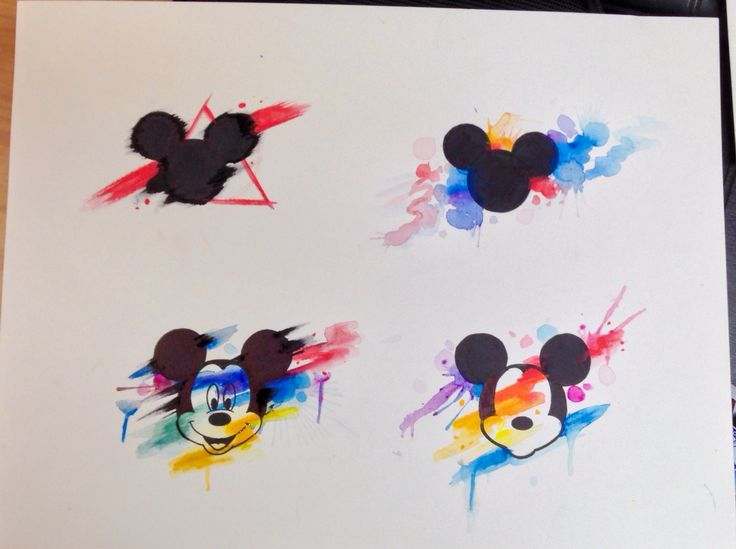 Water color Mickey Mouse