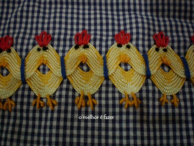 """Ric-Rac chickens - /theretiredmama/chicken-scratch/  96 pins of """"chicken scratch"""" designs!"""