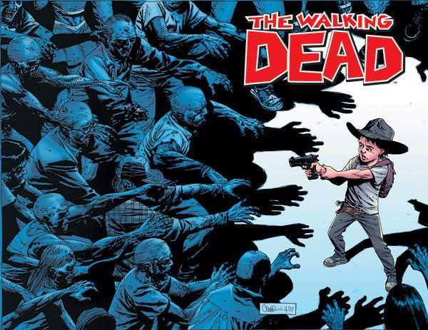 For those of you hooked on the show, it may interest you to know that it was a comic book by talented writer Robert Kirkman, way before it was on TV. As usual, I knew about it before you n00bs. Has it really been four years since I reviewed WD No.50?  Time doth fly.