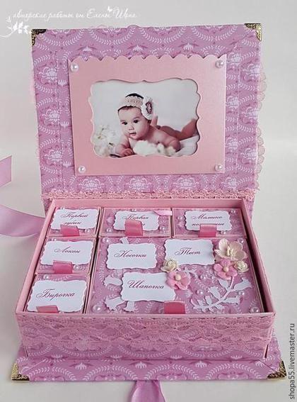 """Подарки для новорожденных, ручной работы. Мамины сокровища """"Колокольчики для дочки"""". Открытки ручной работы  Елены Шопа. Интернет-магазин Ярмарка Мастеров."""
