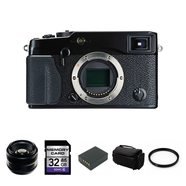 Fujifilm X-Pro1 16.3MP Digital SLR Camera with 35mm f/1.4 XF R Lens Bundle