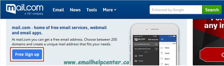Mail.com Sign Up - How To Create New Email Account - www.mail.com