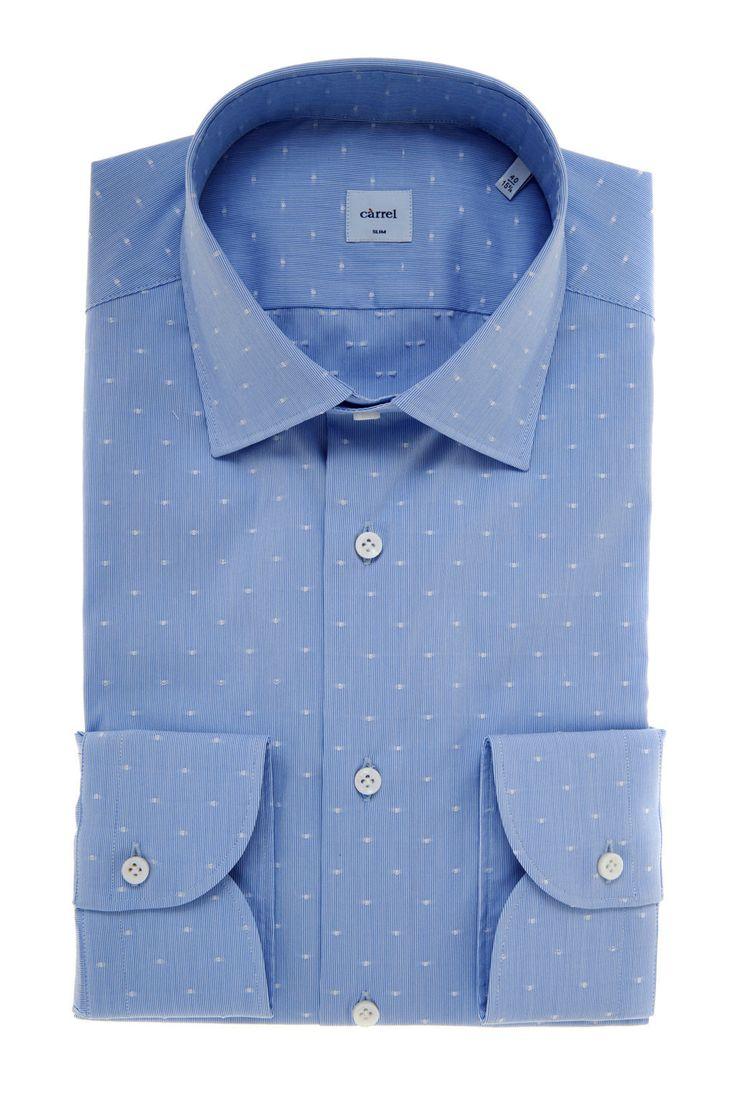 Carrel Shirt Camicia Càrrel azzurra Dobby Spring Summer 2017 Collection