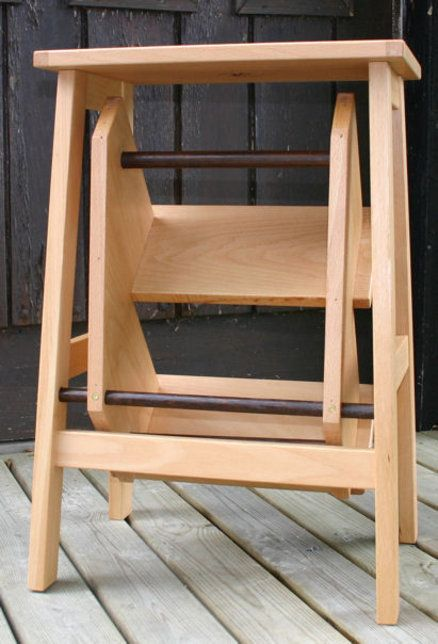 Wood Step Stool Ladder Chair Woodworking Projects Amp Plans
