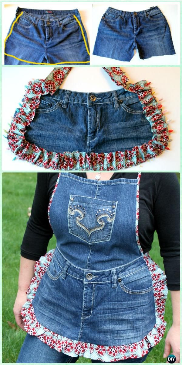 DIY Recycled Jean Farm Girl Apron Instructions - DIY Craft Projects You Can Make and Sell