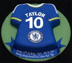 Image result for Chelsea soccer jersey cakes