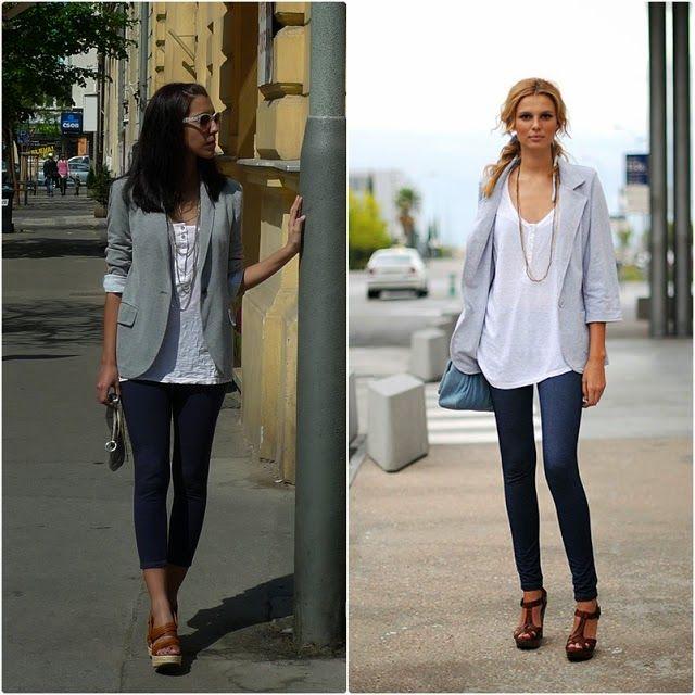 Blazer gris fashion pinterest blazers spring summer - Combinaciones con gris ...