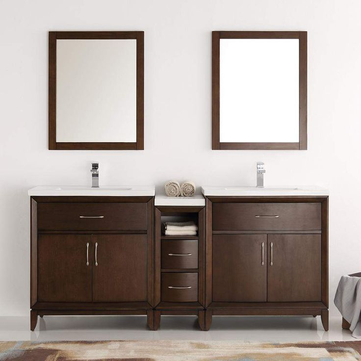 Fresca Cambridge 72 inch Double Sink Vanity with Mirrors FVN21-301230