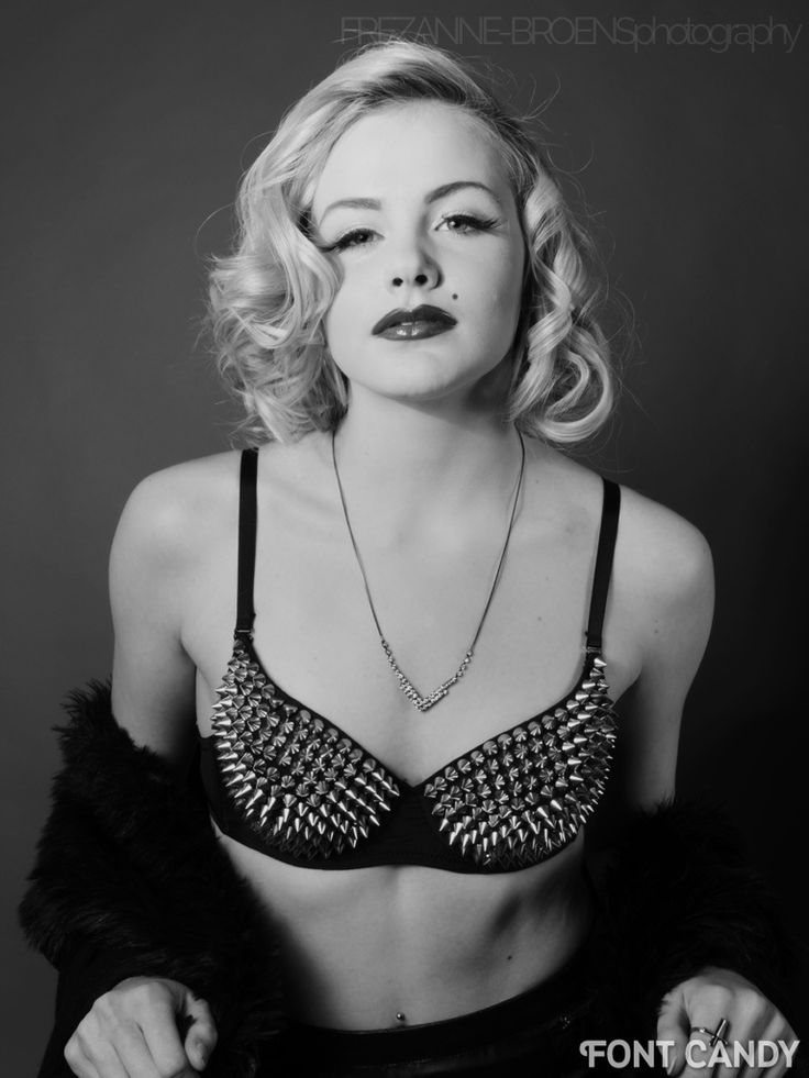 Image2_beauty studio photo shoot I did earlier this year, focused upon the idea of 'Old Hollywood Glam'. And this one in particular, with a touch of 'edge' added…And this studded/spiked bra completes this whole look and feel. Loved doing this shoot. The lighting was perfect, the styling great, and shooting in black n' white (as well as in colour) really added to the whole shoot's charm.