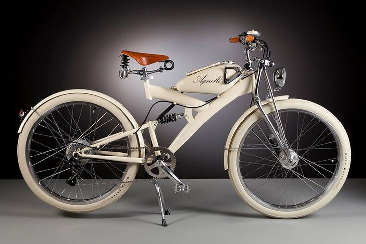 Luca Agnelli electric bicycles - hand built with vintage 1950s pieces.