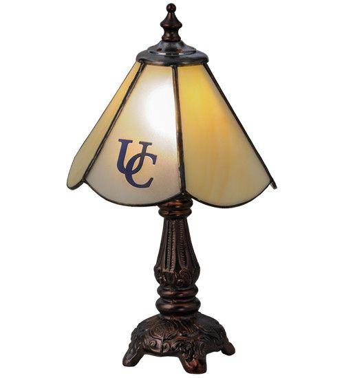 "Meyda Tiffany 151697 11.5""H Utica College Custom Logo Mini Lamp"