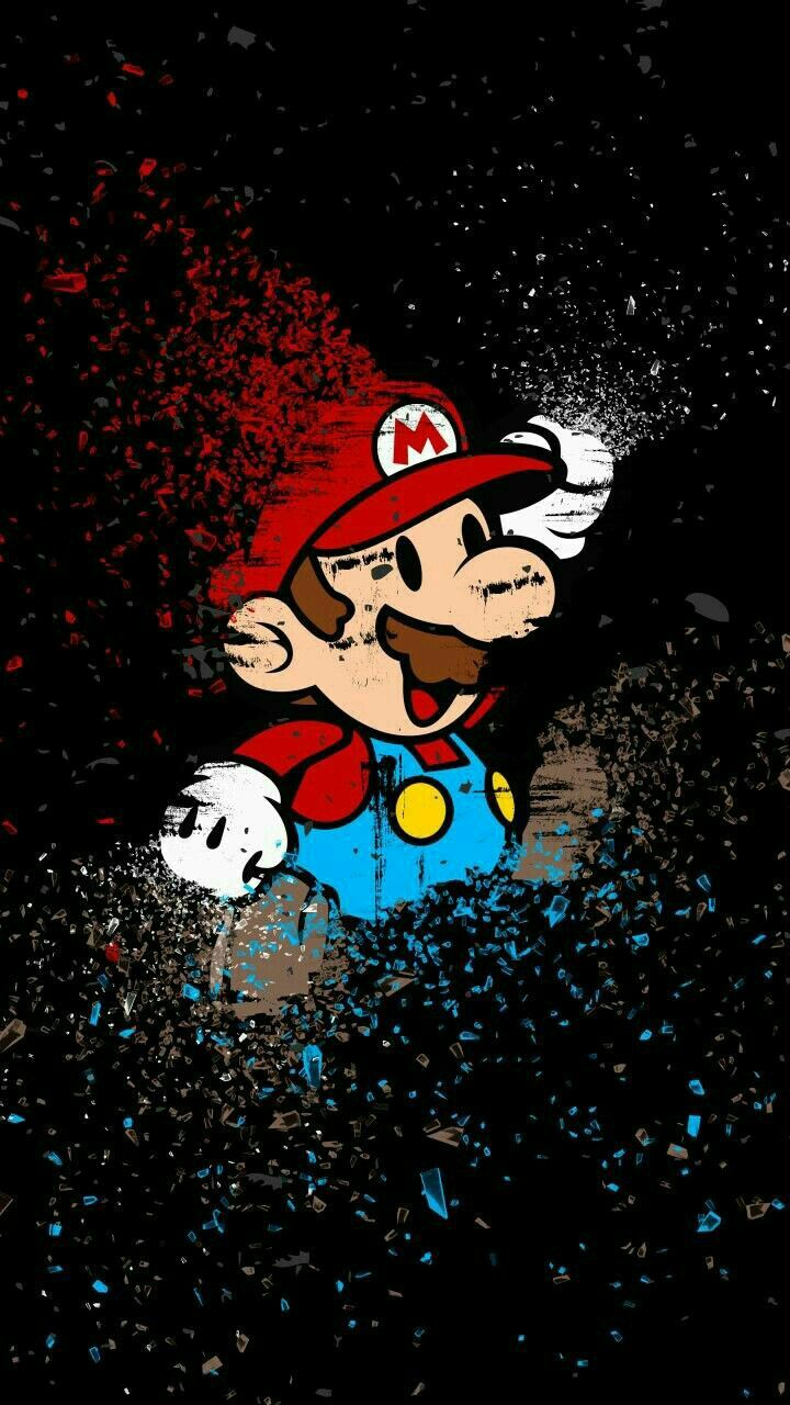 piorapata Wallpaper de desenhos animados, Mario art
