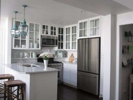 Love The White Cabinets Nice Option For Small Kitchen