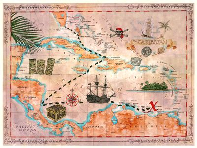 90 best Pirate Maps and Compasses images on Pinterest  Pirate