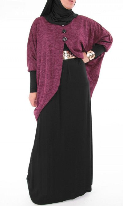 Abaya Dress with velvet cardigan. – Rashida Amin - Islamic Clothing, Abaya, Jilbabs, Hijabs