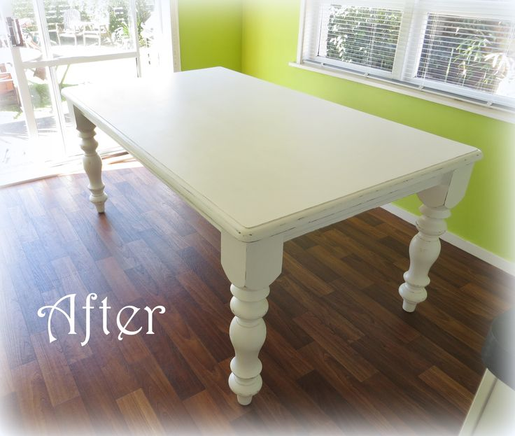 Recycled dining table at www.roseandsunday.co.nz